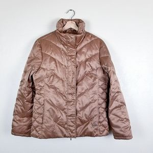 Kenneth Cole   Gold Feather Down Puffer Jacket